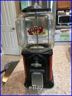 Vintage Victor Topper Gumball Machine with RARE permit Tax stamp on globe