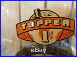 Vintage Victor Topper glass gumball machine pink restored original