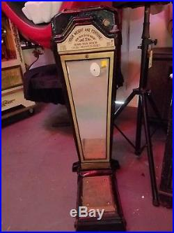 Vintage Weight and Fortune 1 Cent Coin Op Machine from 1950's