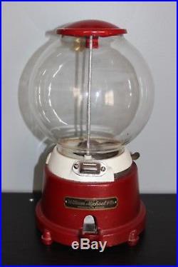 Vintage William Michael & Co. Gumball Machine 1 Cent Penny Vendor WORKS