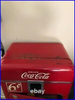 Vintage Working 1950's Vendo 33 6 cent Coke Machine-Original Paint