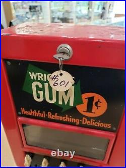 Vintage Wrigley's Chewing Gum Vending Machine 1 Penny Cent Free Shipping