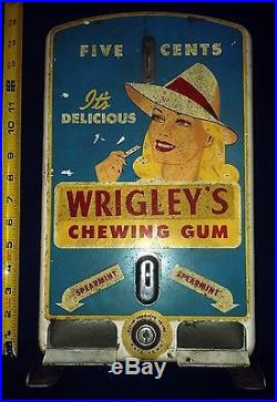 Vintage Wrigley's Chewing Gum Vending Machine 5 Cents Kayem