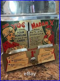 Vintage Yogi Madam X Coin Operated Napkin Machine! Diner Trade Simulator Rare
