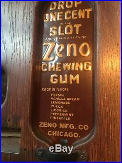 Vintage Zeno Chewing Gum Vending Machine Advertising Collectible USA