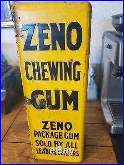 Vintage Zeno Chewing Gum Vending Machine Collectible Needs Work