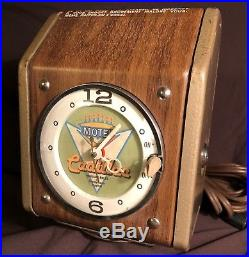 Vintage antique Coin operated motel bed massager ADVERTISING clock Niagara Falls