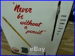 Vintage c1950's Antique coinoperated Vending Machine Pencil Dispenser