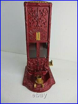 Vintage coin operated match machine circa 1900