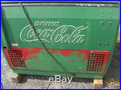 Vintage coke machine, coca-cola chest type vending machine