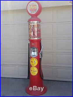 Vintage full size gas pump gumball machine