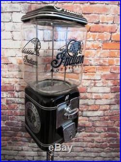 Vintage gumball machine Indian motorcycle Americana novelty coin op memorabilia