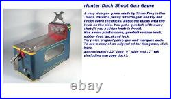 Vintage gumball machine toys rare 1940s penny arcade duck shooting