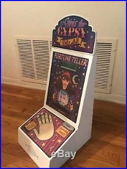 Vintage impulse coin op vending machine Arcade Gina the Gypsy fortune teller