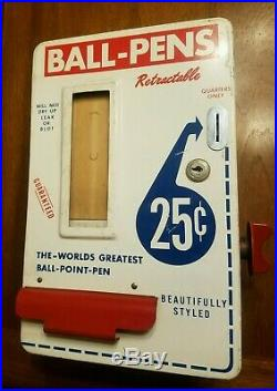 Vintage mid century Ball Point Pen Vending Machine 25 Cent Rare model