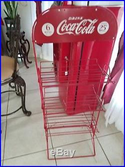 Vintage original 1950s vendo 44 coke machine and bottle rack excellent condition