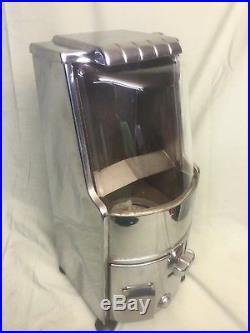 Vintage rare chrome Northwestern Jet 5 cent gumball machine with keys, new globe