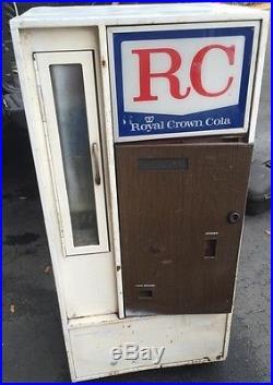 Vintage soda machine RC Cola vending Nehi diet rite dixie narco