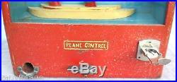 Vtg 1940s Coin Op 1-Cent SPITFIRE WW2 BOMB Drop Gumball Gambling Vending Machine