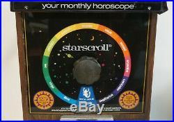 Vtg 1994 Starscroll Coin Operated Astrological Horoscope Vending Machine #AF64