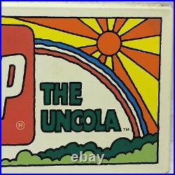 Vtg 7up Vending Machine Button Panel Advertising The Uncola 60's 70's Patriotic