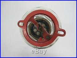 Vtg Columbus Star Gumball Candy Vending Machine Embossed 8 Sided Glass Globe