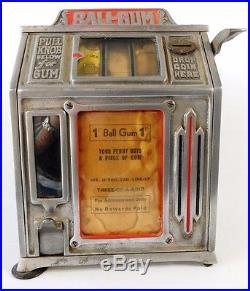 Vtg Dandy 1 cent Cigarette Gumball Trade Stimulator Slot Machine