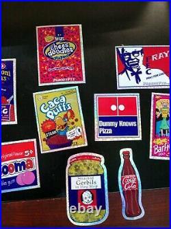 Vtg Lot 300 Vending Machine Prism Stickers WACKY POO EMOJI PACKAGES SPOOF POOP