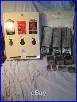 Vtg Rare Short 3 Column Condom Vending Machine $. 25 Coin Op & Key Working nr