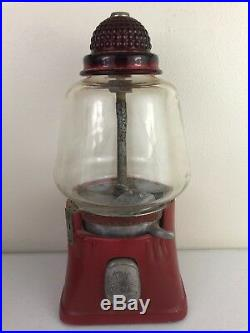Vtg Silver King Hot Nuts / Candy Dispenser Machine As Is