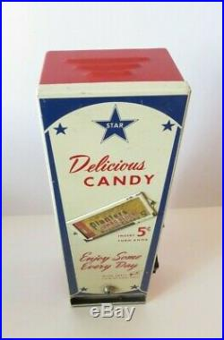 Vtg Star Venders Of California 5 Cent Vending Machine Planters Jumbo Block Candy