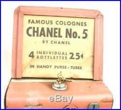 Vtg Women's Chanel No. 5 Purse Perfume Tubes Coin-Op Vending Machine