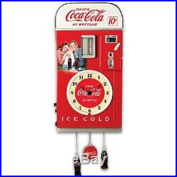 Wall Decor COCA-COLA Time Refreshment Vending Machine Wall Clock Retro Vintage