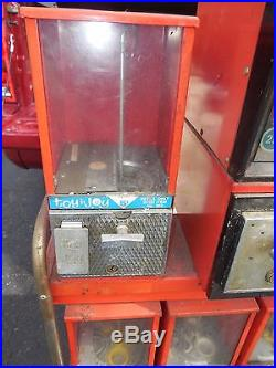 (vtg) Toy N Joy Vending Rack 7 Coin Op Machines 1 5 10 25 Cents Victor 77 Becker